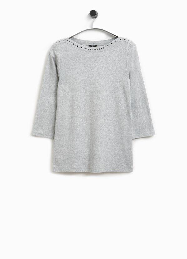 T-Shirt Baumwolle mit Nieten Smart Basic | OVS