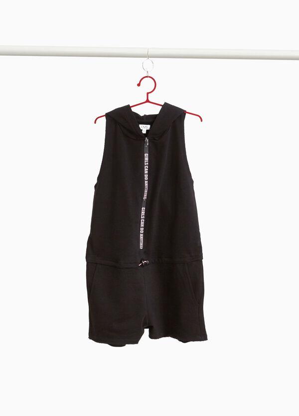 Ärmelloses Kleidchen mit Kapuze