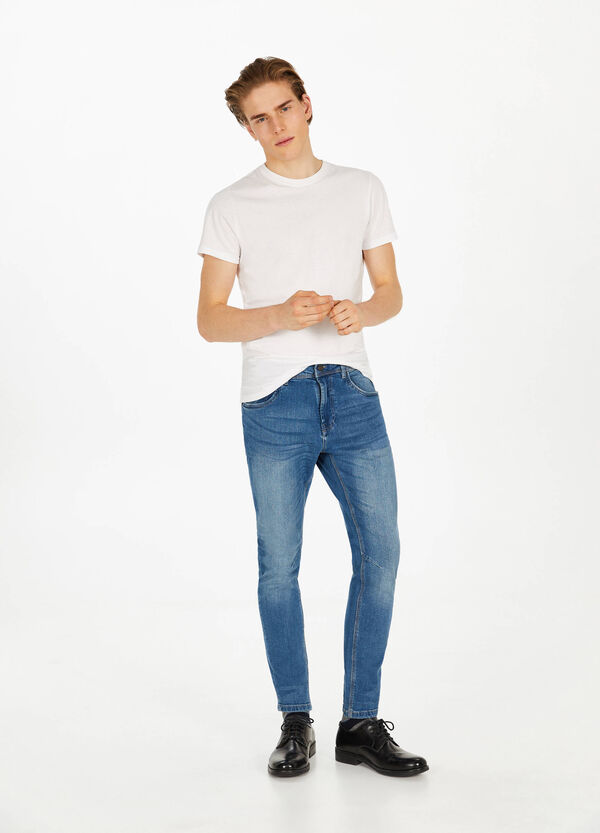 Stretch-Jeans Loose Fit mit Whiskering