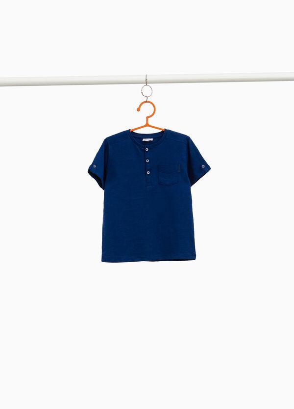 T-Shirt aus reiner Baumwolle mit Tasche