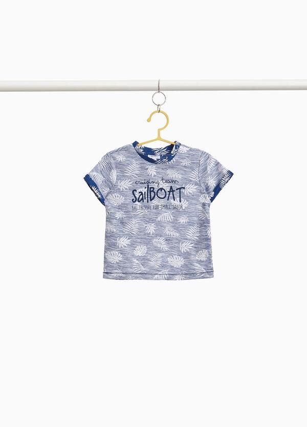 T-Shirt Baumwolle All-over-Aufdruck Palmen