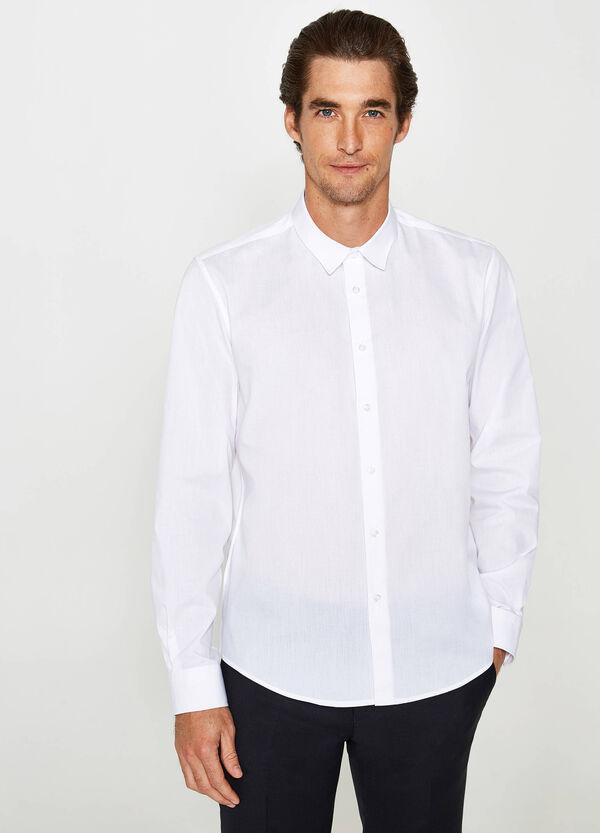 Lässiges einfarbiges Hemd aus Baumwoll-Mix | OVS