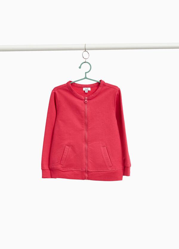 Sweatshirt aus reiner Baumwolle mit Reißverschluss