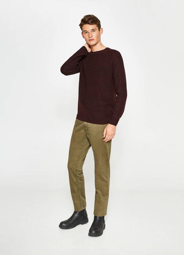Einfarbige Hose aus reiner Baumwolle | OVS