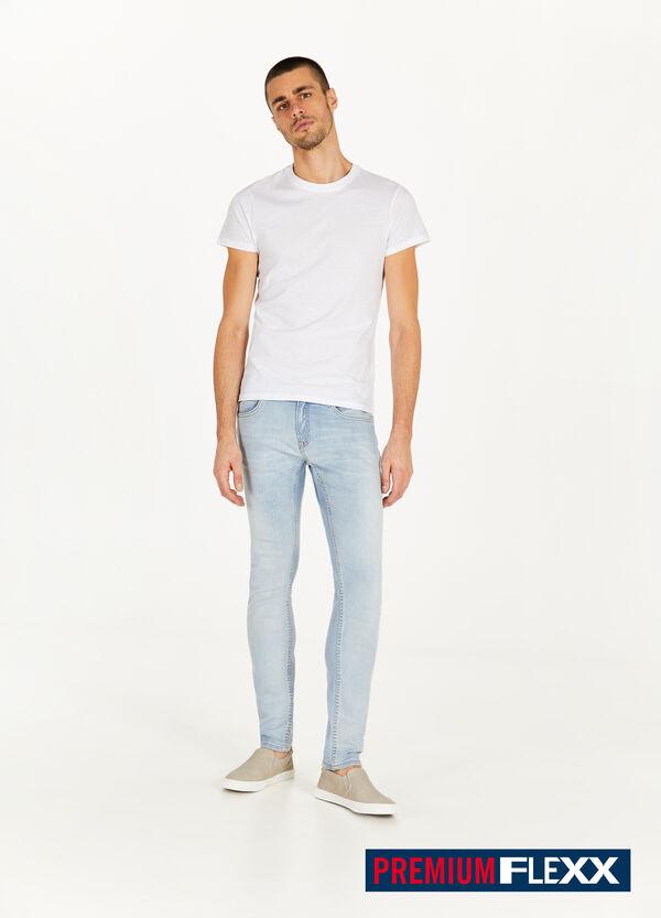 Einfarbige Jeans Slim Fit Stretch