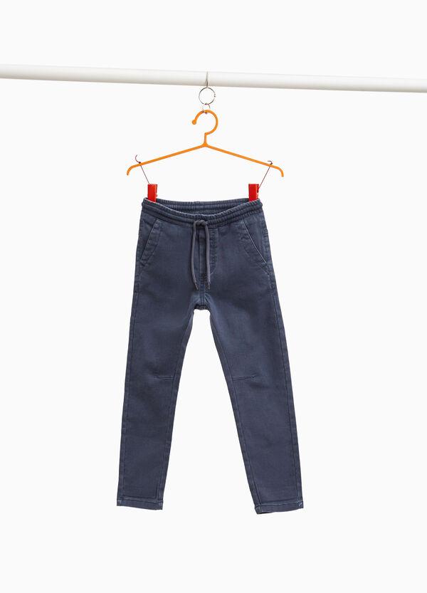 Jeans Jogger Fit mit Kordelzug