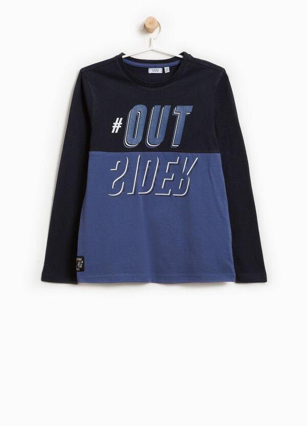 T-Shirt zweifarbig mit Aufdruck Lettering | OVS