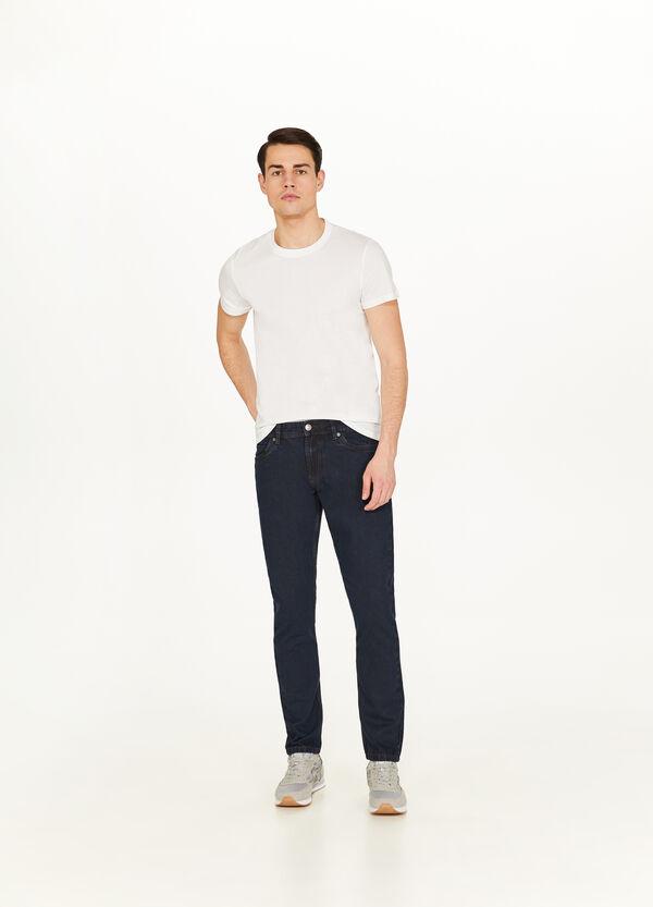 Einfarbige Jeans Slim Fit mit Zipper