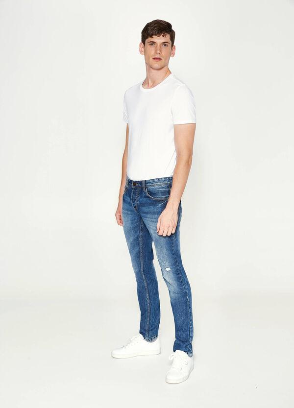 Jeans Slim Fit mit Destroyed Stellen | OVS