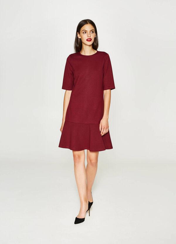 Einfarbiges Kleid aus Viskose-Stretch | OVS