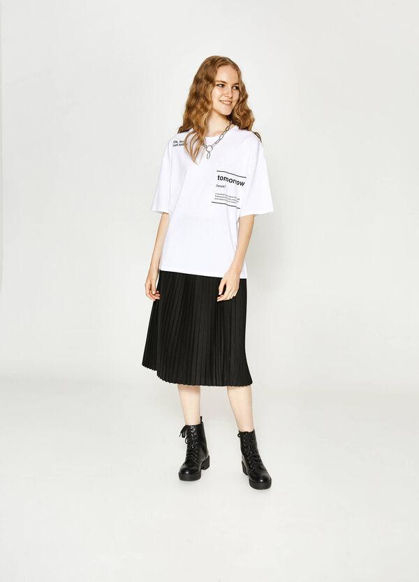 Bedrucktes T-Shirt aus Slub-Baumwolle | OVS