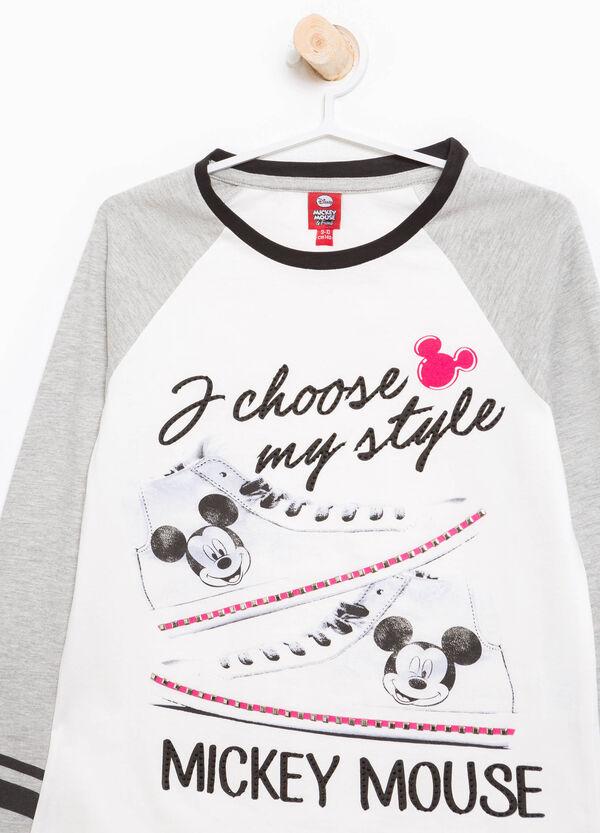 T-Shirt Mickey Mouse mit Strass und Nieten | OVS