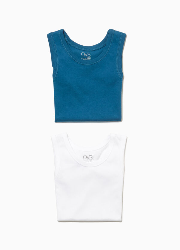 Set zwei Unterhemden Baumwolle