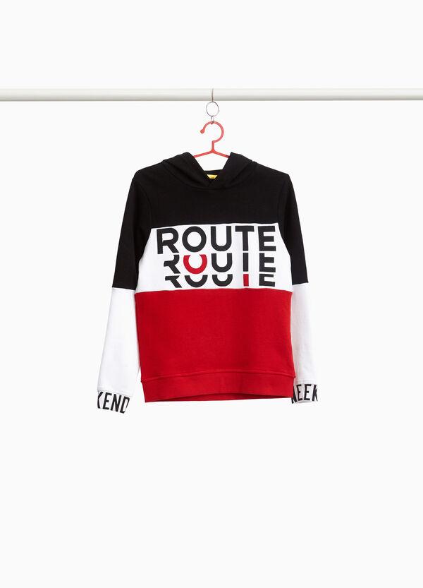 Sweatshirt zweifarbig aus Baumwolle bedruckt