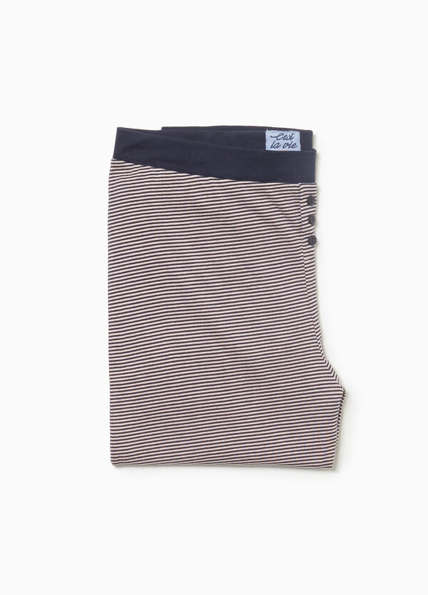 Pyjamahose aus Baumwolle gestreift