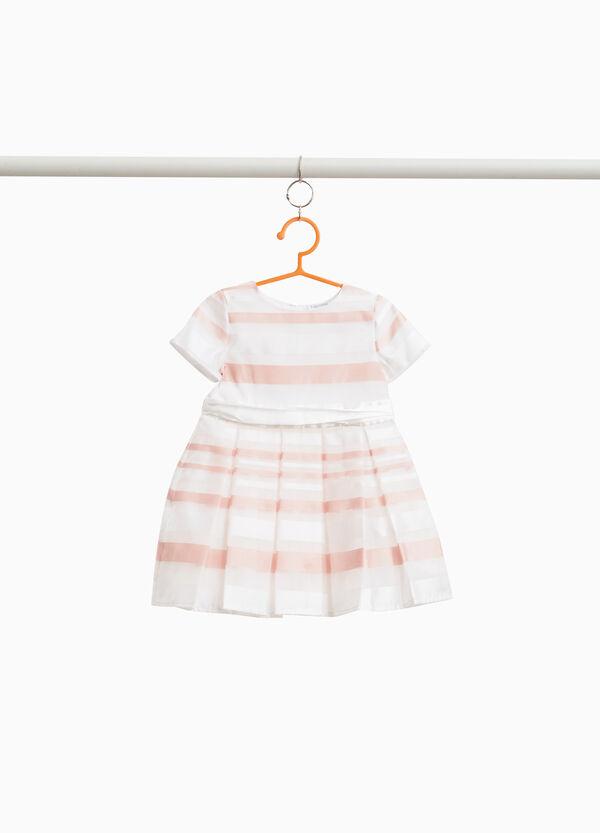 Kleidchen gestreift mit Plisseerock