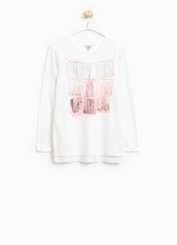 T-Shirt aus Baumwolle mit Aufdruck | OVS