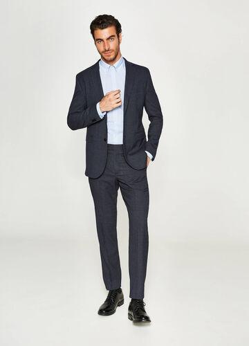 Einfarbiger Anzug Regular Fit aus Viskose