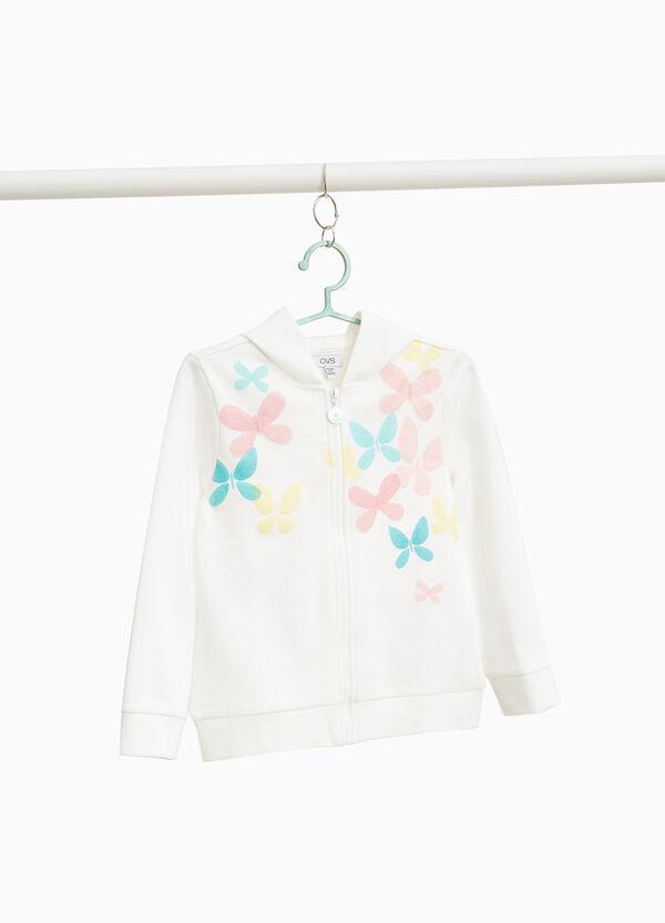 Sweatshirt reine Baumwolle Glitter-Aufdruck