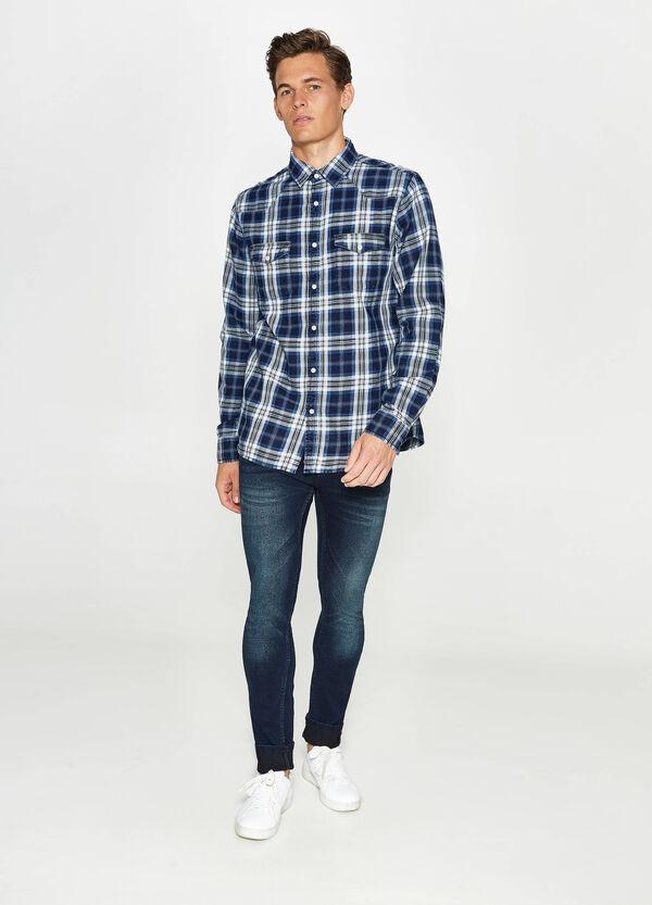 Casual-Karo-Hemd aus reiner Baumwolle | OVS