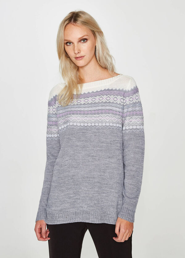 Pullover Woll-Mix mit Stickerei | OVS