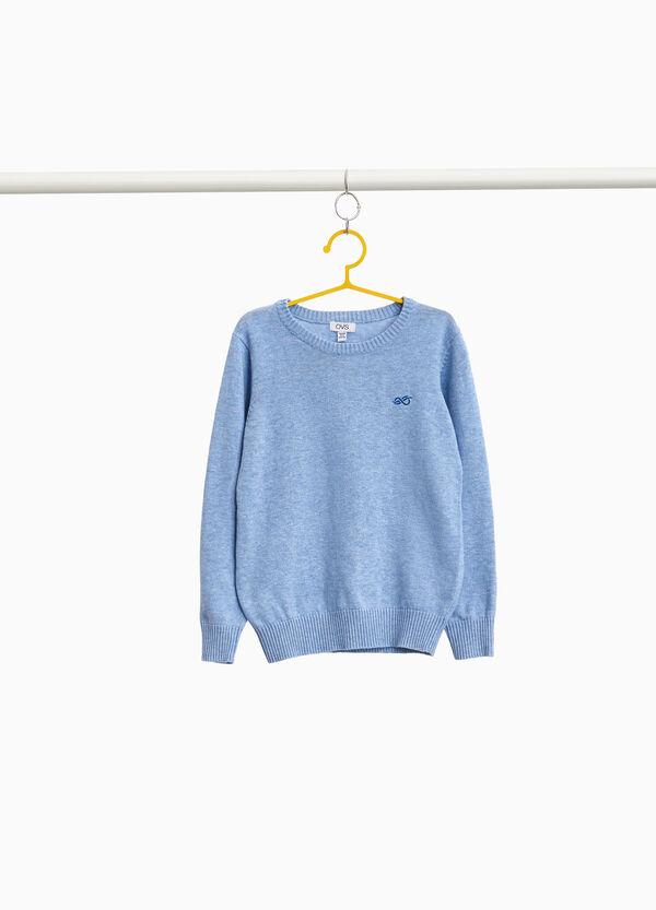 Pullover reine Baumwolle mit Feinripp