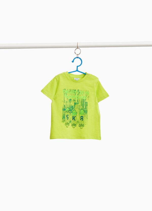 T-Shirt aus reiner Baumwolle mit Aufdruck