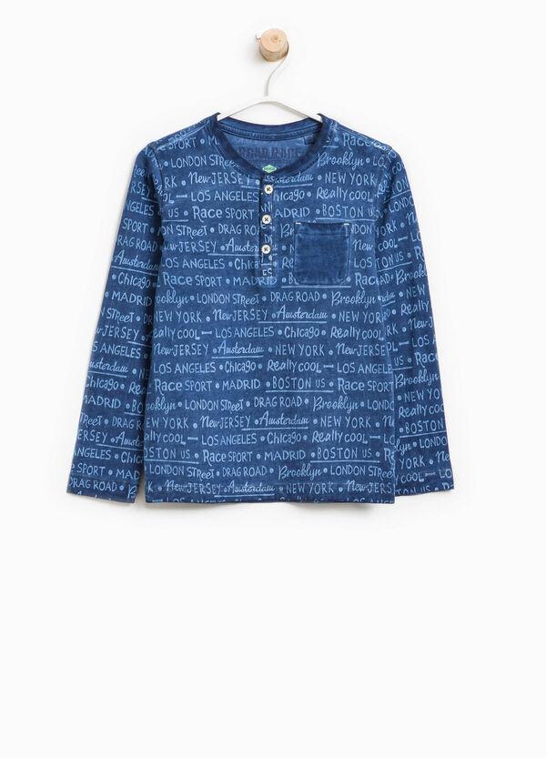 T-Shirt aus reiner Baumwolle mit Buchstabenmuster | OVS