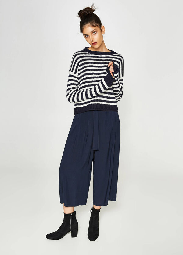 Pullover Trikot-Verarbeitung gestreift   OVS