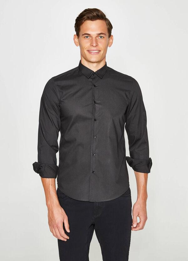 Lässiges Hemd Slim Fit Tupfenmuster | OVS