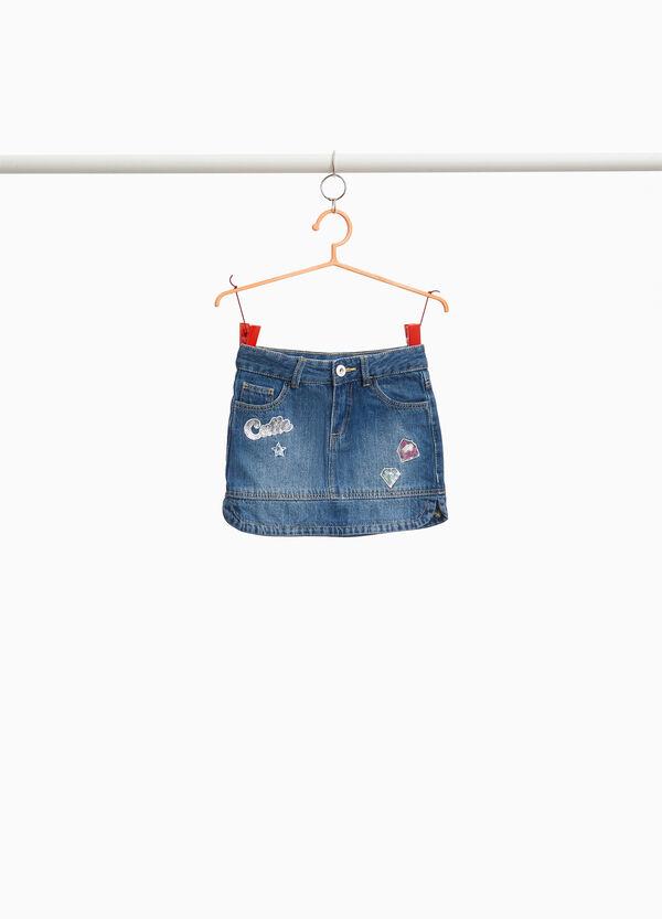 Jeans-Rock mit Patch