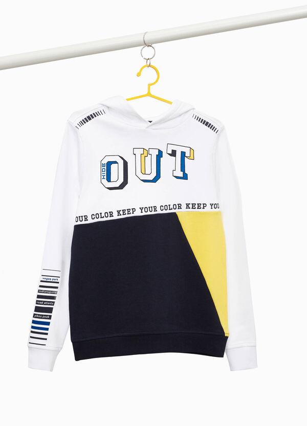 Zweifarbiges Sweatshirt aus reiner Baumwolle