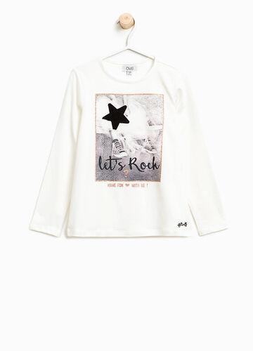 T-Shirt aus Baumwollstretch bedruckt