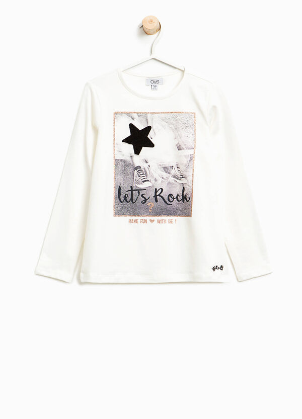 T-Shirt aus Baumwollstretch bedruckt   OVS