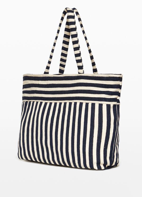 Strandtasche aus Baumwolle gestreift