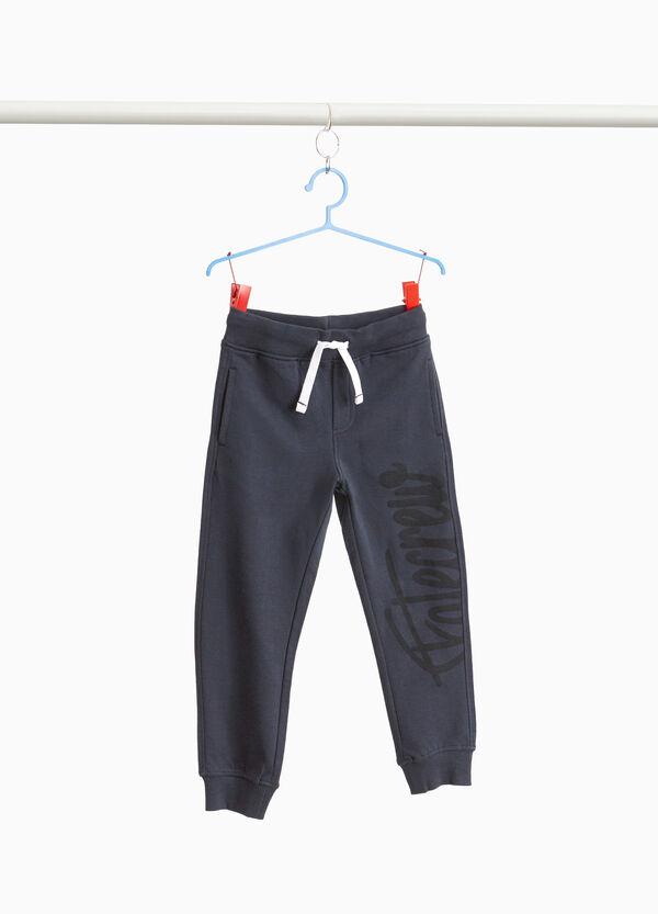 Jogginghose Baumwolle mit Buchstabendruck