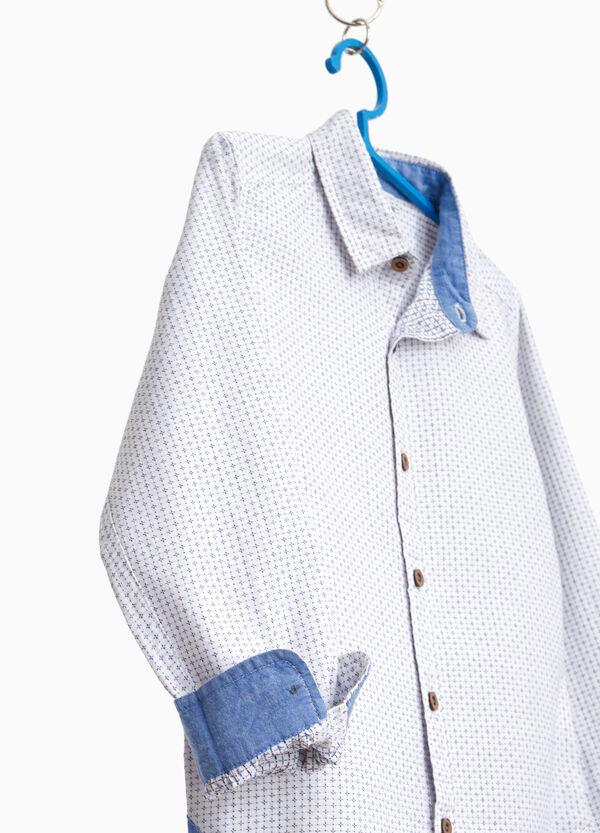 Hemd reine Baumwolle Mikro-Muster