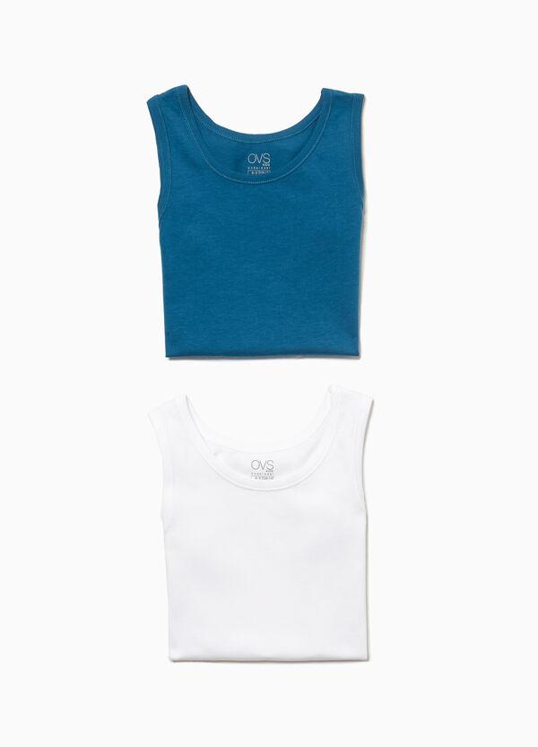Set aus zwei Unterhemden reine Baumwolle