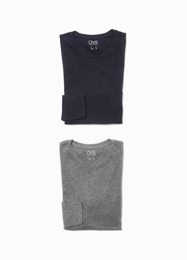 Set zwei Pyjama-Shirts aus reiner Baumwolle
