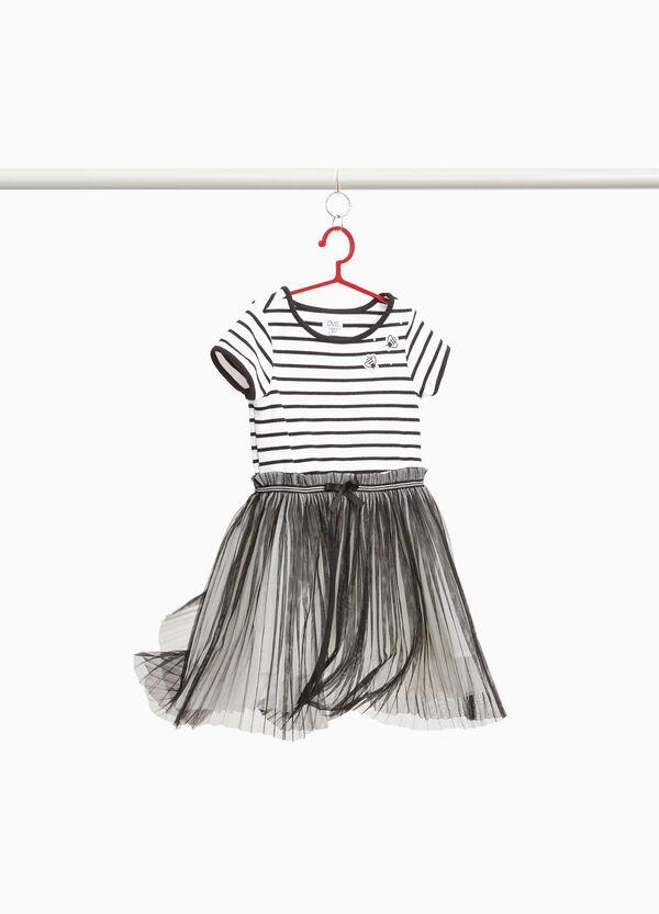 Stretch-Kleidchen mit Tüllrock