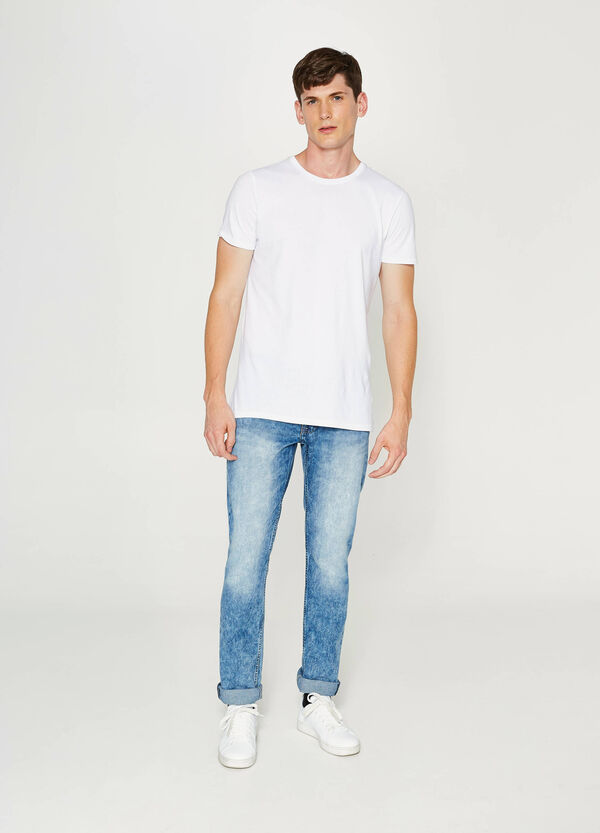 Jeans Straight Fit mit Washed-out-Effekt | OVS
