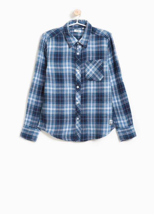 Flanellhemd aus reiner Baumwolle Karo | OVS