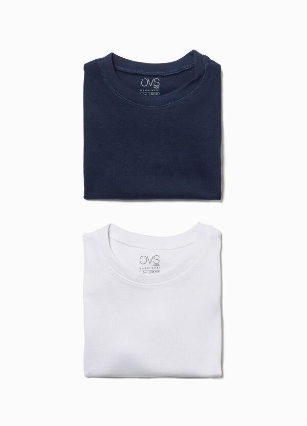 Set aus zwei T-Shirts aus reiner Baumwolle