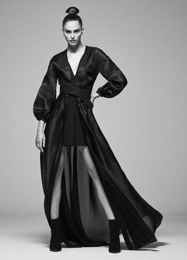 Halb transparenter langer Kimono | OVS