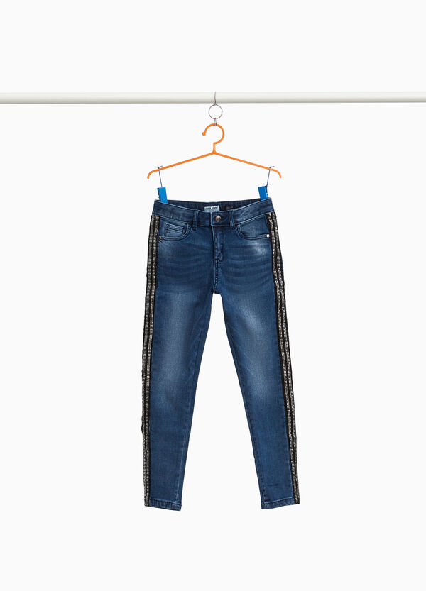 Stretch-Jeans Used-Effekt Whiskering