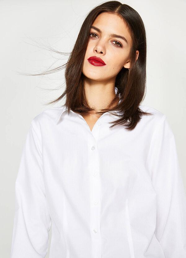 Einfarbiges Hemd aus Baumwoll-Mix | OVS
