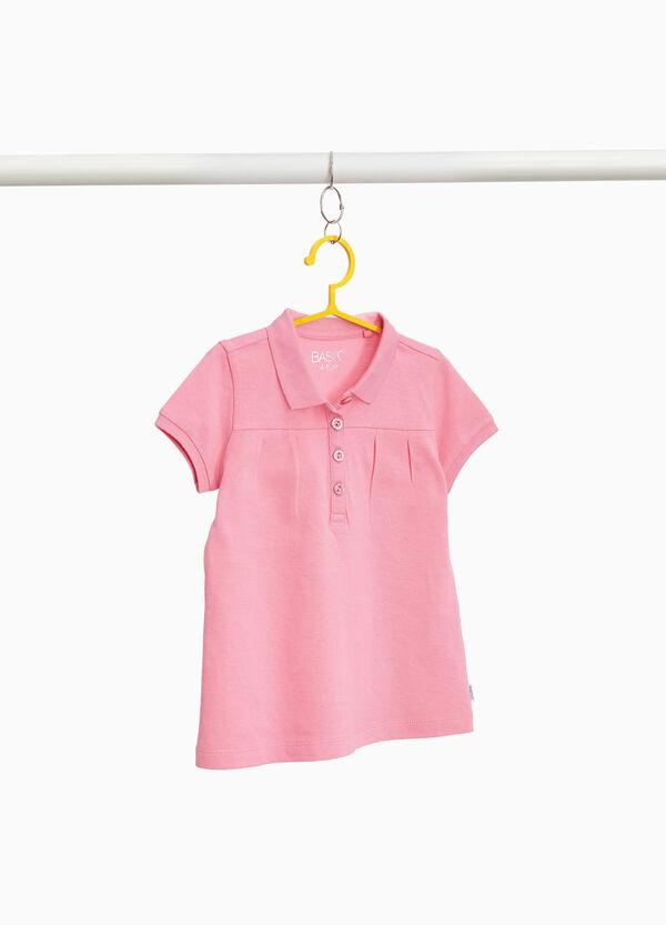 Polo-Shirt reine Baumwolle mit Falten und Glitter