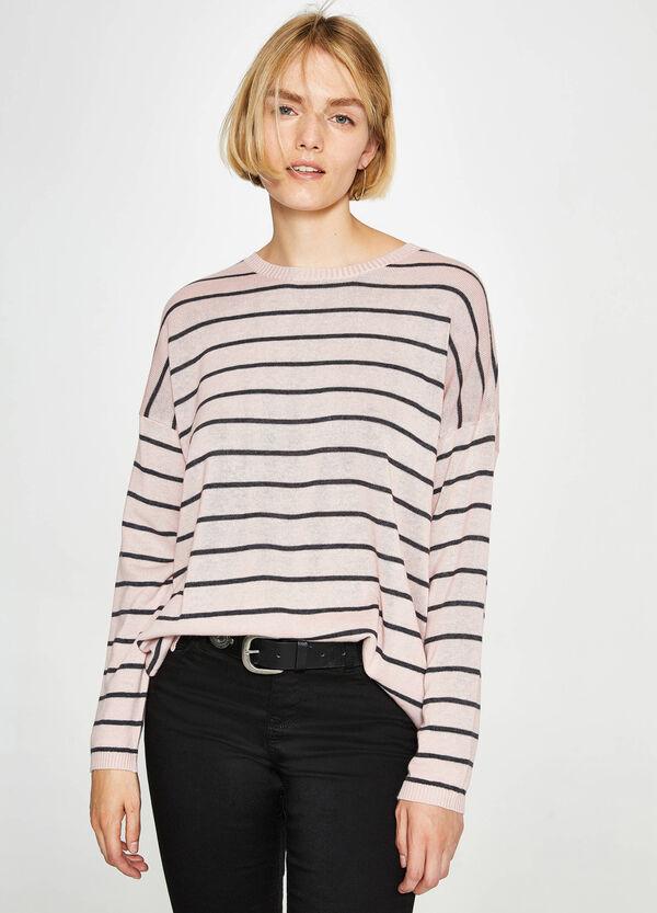 Pullover aus Baumwolle mit Streifenmuster | OVS