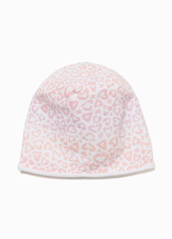 Mütze Muster Glitter-Herzen