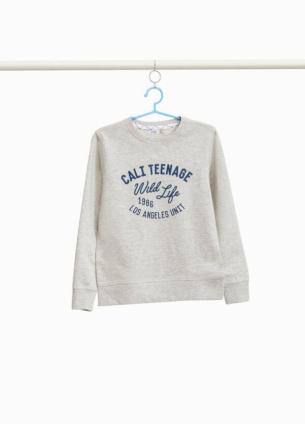 Sweatshirt Baumwolle und Viskose bedruckt